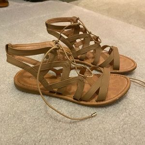 nude strapy sandals